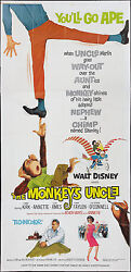 ANNETTE FUNICELLOBEACH BOYS orig large 3-sheet movie poster THE MONKEY'S UNCLE