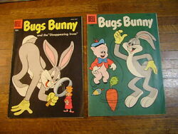 Bugs Bunny 53 And 54. 1957 Dell Comic Books