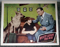 Rusty Leads The Way 11x14 Movie Poster German Shepherd/ted Donaldson 1948 Lobby