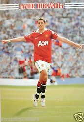 Javier Hernandez Arms Out Pointing Football Poster-manchester United Fc,soccer