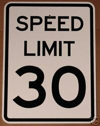 Real Speed Limit 30 18 X 24 Road Street Traffic Sign Signs