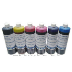 6 Colors Dye 500ml Pint Refill Ink Set For Ciss Fits Epson Artisan 730 837
