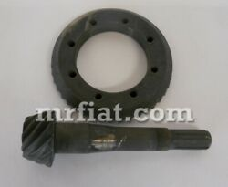 Fiat 124 Coupe Spider 1400 Ac/as Ring Gear Pinion 10/43 New