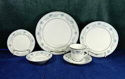 99-pcs Or Less Of Noritake Pattern 2482 Blue Hill Contemporary Fine China