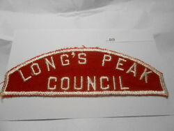 Boy Scout Longand039s Peak Council Full Size Red And White Bi9