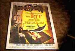 Pit And Pendulum Orig Movie Poster 1961 Edgar Allan Poe Vincent Price Great