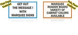 New Single-sided 3x8 Marquee Lighted Outdoor Message Letter Reader Board Sign