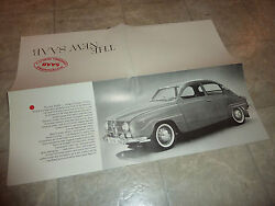 1965 Saab 96 Fold Out Literature Manual Brochure Pamphlet
