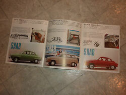 1964 Saab 96 Monte Carlo 850 And Station Wagon Literature Manual Brochure Pamphlet