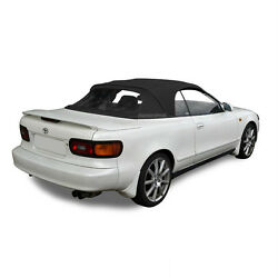 Fits Toyota Celica 1991-1993 Convertible Soft Top And Plastic Window Black Cloth