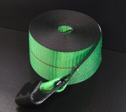 10 Green 4x30and039 Winch Straps Flat Hook Flatbed Truck Trailer Tie Down Strap Fh