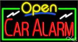 Brand New Open Car Alarm 37x20 Real Neon Business Sign W/custom Options 15478