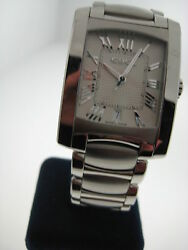 Ebel Brasilia Menand039s Silver Dial Swiss Quartz Movement Ss Box And Papers