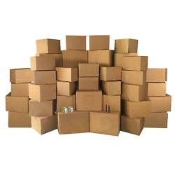 Uboxes 4 Room Economy Kit- 50 Moving Boxes And Packing Supplies