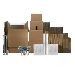 Uboxes 6 Room Wardrobe Kit 65 Moving Boxes And Shipping Supplies