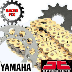 Gold X-ring Chain And And Sprocket Set Fits Yamaha Sr500 2j2 78-91