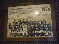 1936 Pittsburgh Pirates Steelers 17x23 Vintage Team Photo Art Rooney Framed Rare
