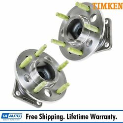 Timken Rear Wheel Hub And Bearing Pair Set Of 2 W/ Abs Fwd For Chevy Pontiac Buick