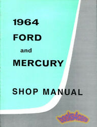 1964 FORD SHOP MANUAL MERCURY SERVICE REPAIR BOOK FACTORY WORKSHO
