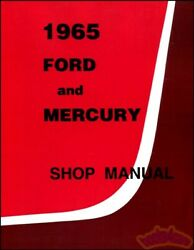 1965 FORD MERCURY SHOP MANUAL SERVICE REPAIR BOOK RESTORATION GUIDE 65