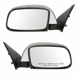 Manual Side View Mirrors Chrome Left And Right Pair Set For 89-95 Toyota Pickup