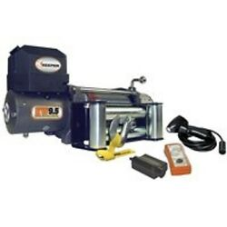 New Keeper Kw95122 12 Volt Dc Electric 9500 Lb Winch With Remote 100 Ft X 21/64