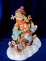 Hummel 152060 Christmas Delivery Brand Nib Girl Riding Sleigh Large 600 Off Fs