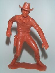 Marx 1964 6 Inch Cowboy Outlaw Reaching To Draw Pistol Scuffed Up Hat Only