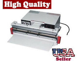 18 Vacuum Sealer 5mm With Double Nozzle Single Impulse And Gas Flush Food Seal