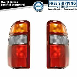 Tail Lights Taillamps Left And Right Pair Set For 00-03 Chevrolet Suburban Tahoe