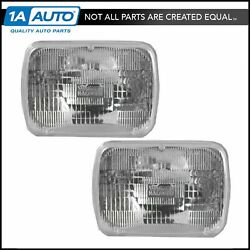 Rectangle Sealed Beam Headlamps Headlights Pair Set of 2 for Chevy Pickup Truck