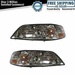 Headlights Headlamps Left And Right Pair Set New For 03-04 Lincoln Town Car