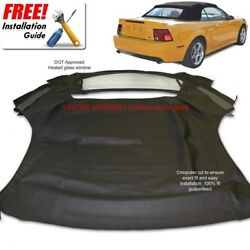 Ford Mustang Convertible Soft Top And Heated Glass Window Black Sailcloth 1994-04