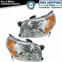 Headlights Headlamps Left And Right Pair Set New For 06-08 Honda Pilot