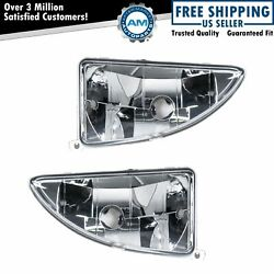 Fog Driving Lights Lamps Left And Right Pair Set For 00-04 Ford Focus
