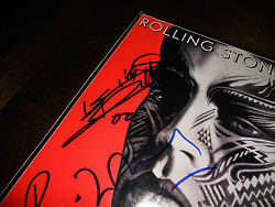 Rolling Stones Signed Autograph Lp Cover X3 Richards Watts Wood Psa Certified