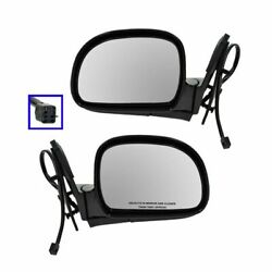 Power Side View Mirrors Folding Left And Right Pair Set For 1998 Blazer S10 Jimmy
