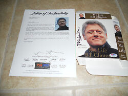President Bill Clinton Signed Autographed My Life Audio Book Cover Psa Certified