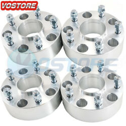 4 2 Hubcentric Wheel Spacers 5x5.5 Adapters 9/16 Studs For Dodge Ram 1500