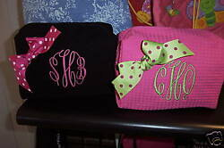 Monogrammed Cosmetic Bag Great Gift thats Personalized $11.50