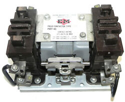 Electric Machinery Mfg. Company Field Contactor Type 839 P/n 800a070f06 275v