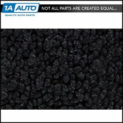 For 63 Chevy Corvette Cut And Sewn 80/20 Loop 01-black Passenger Area Carpet Front