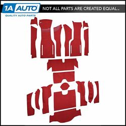For 1964 Chevy Corvette Coupe Cut And Sewn 80/20 Loop 01-black Complete Carpet