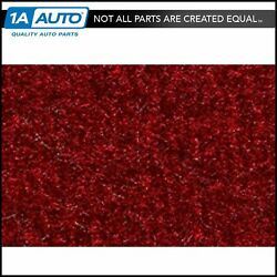 For 1990-93 Geo Metro Convertible Cutpile 815-red Complete Carpet Molded