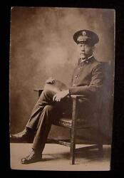 Salvation Army-rppc-seated Officer-dress Uniform-cymbal