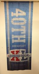 Super Bowl Xl 40th Anniversary Steelers Vs Seattle Large 95x36 Banner