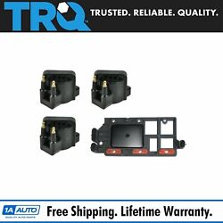 Trq Ignition Coil Set Of 3 And Control Module Kit For Chevy Pontiac Buick Olds