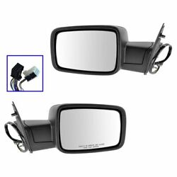 Mirrors Power Heated Folding Puddle Signal LH RH Pair Set for Ram 1500 2500