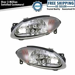 Headlights Headlamps Pair Set Left LH & Right RH for 98-03 Ford Escort Coupe ZX2