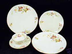 24-pcs Or Less Of Hutschenreuther Maple Leaf Pattern 8205 China